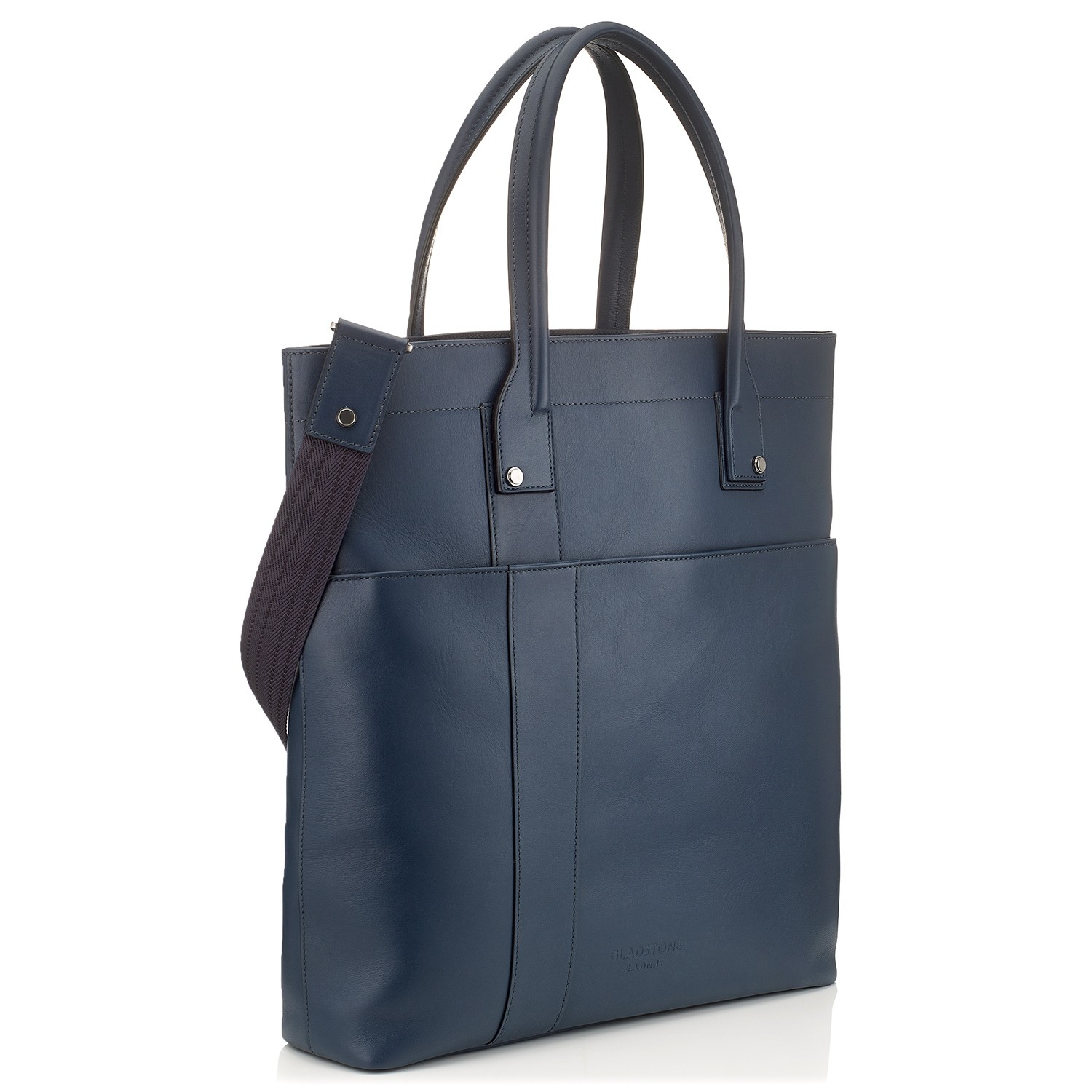 G10 Mens Tote Shopper Bag Ocean Blue Side