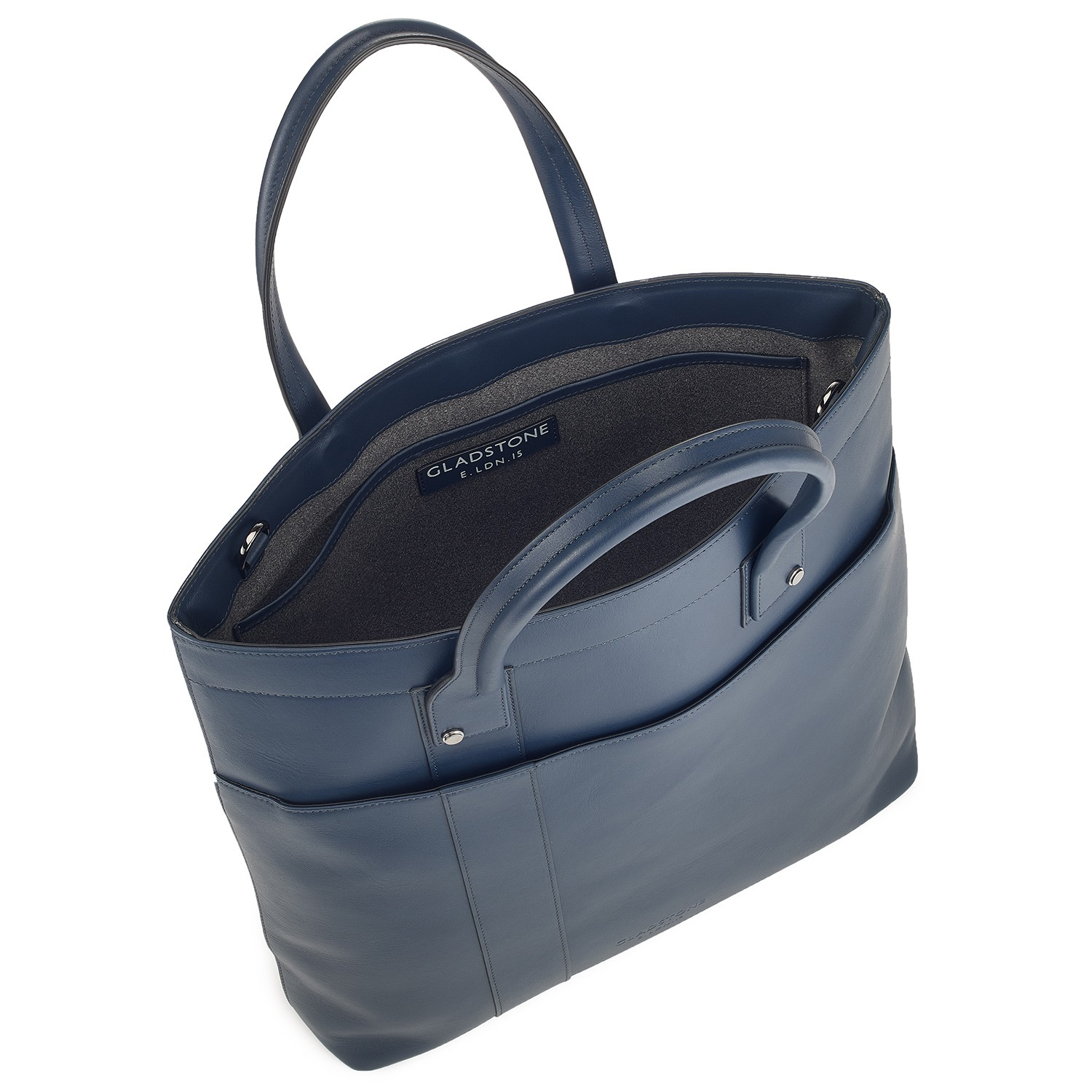 G10 Mens Tote Shopper Bag Ocean Blue Open