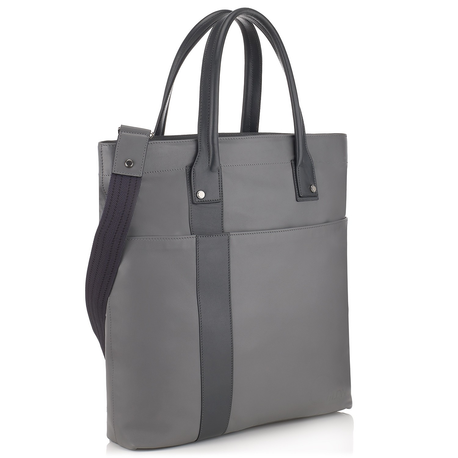 G10 Mens Tote Shopper Bag Shark And Smoke Grey Side