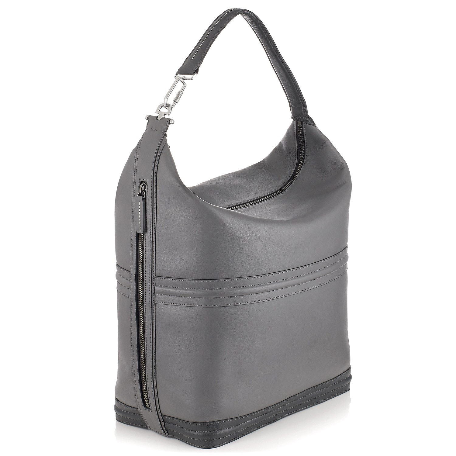 G36 Unisex Hobo Bag Shark / Smoke Grey Side