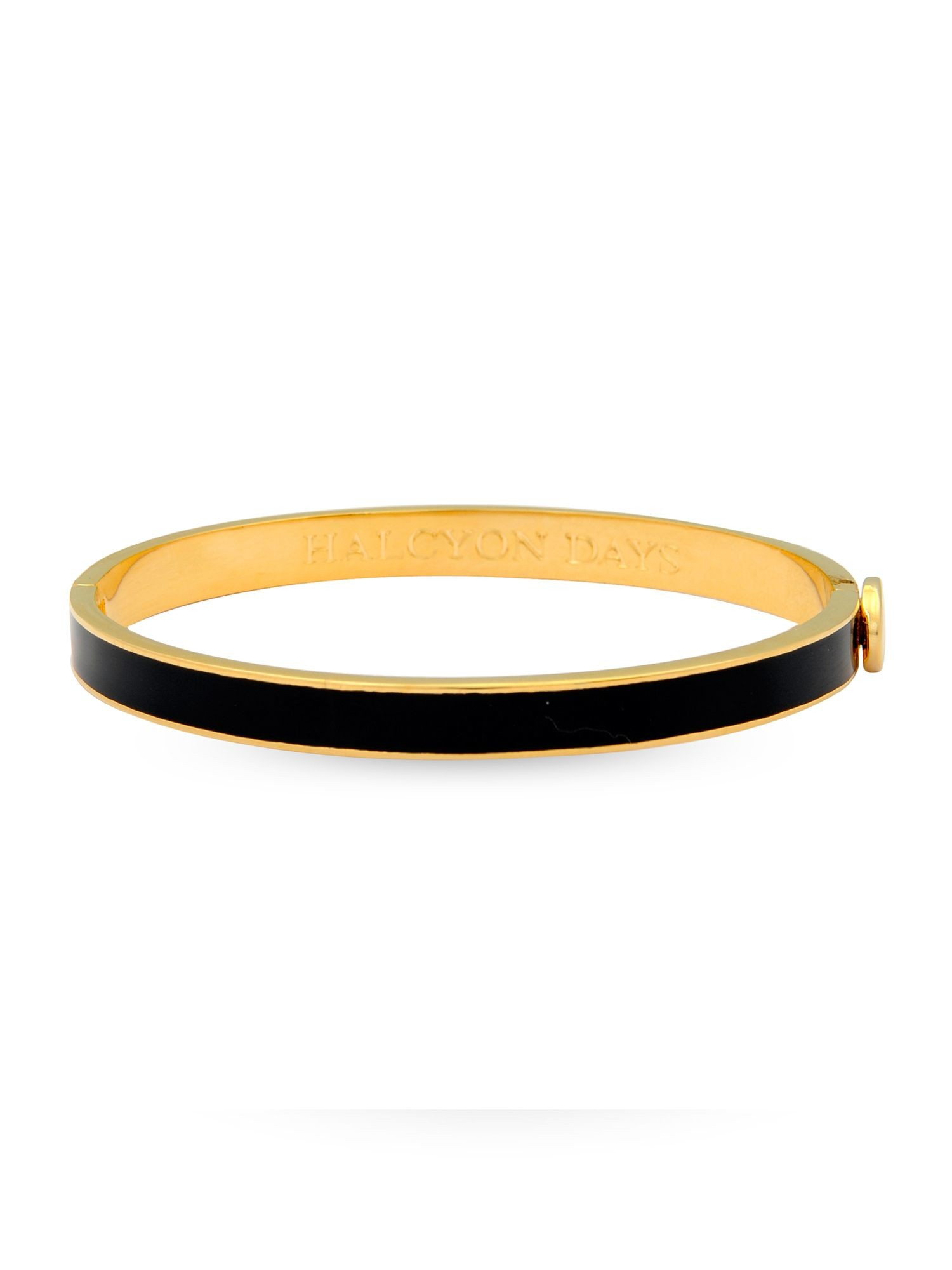 6mm Skinny Plain Bangle Black & Gold