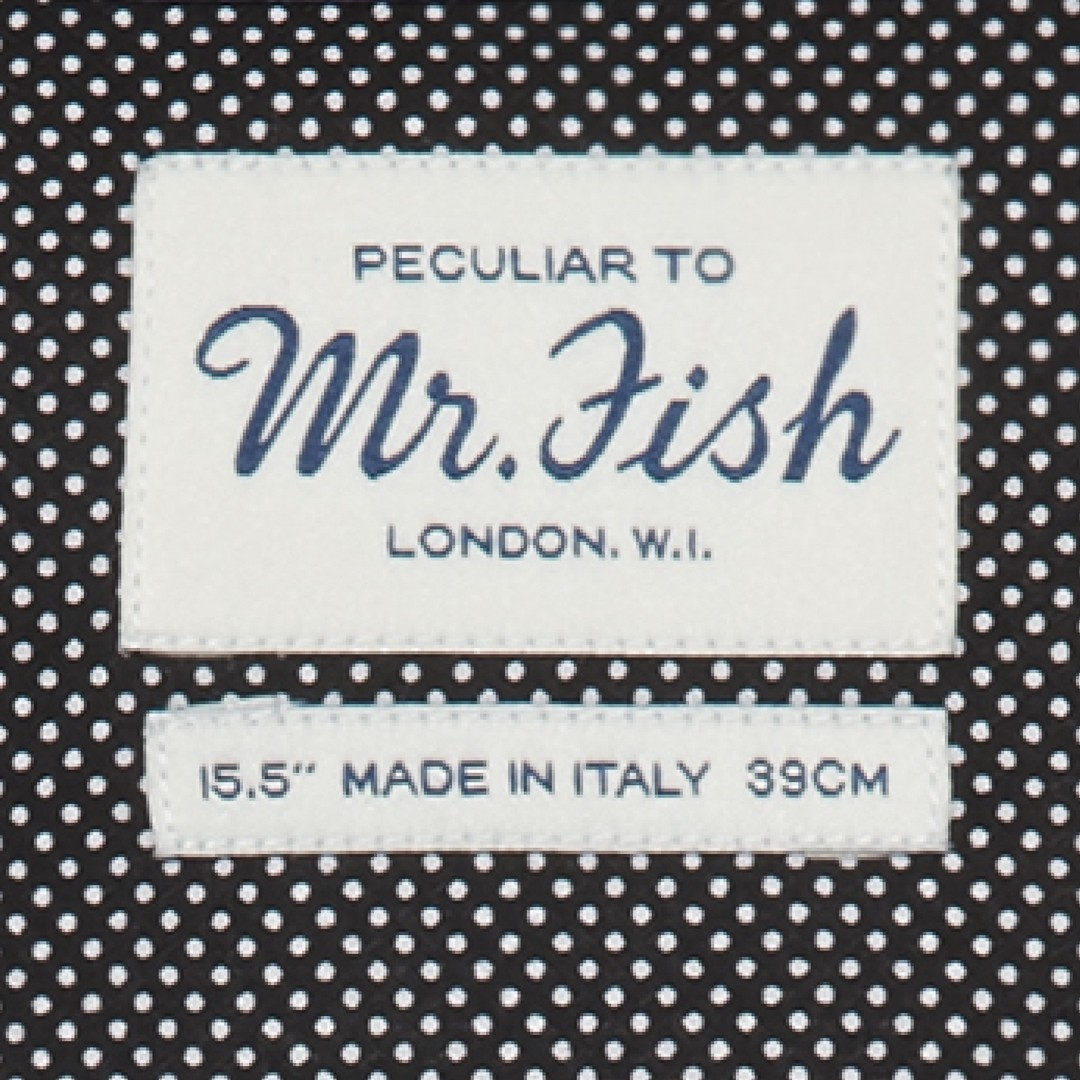 MR FISH Black and White Microdot Shirt